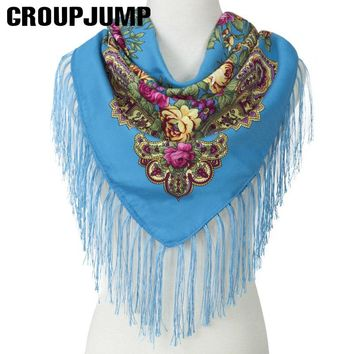 High Quality Scarf Women Shawl Square Handkerchief Women Floral Scarf&Shawl Women Scarf Tassel Shawl Spring/Winter Scarves