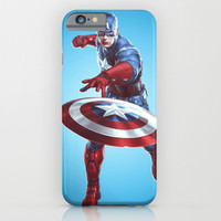 CAPTAIN AMERICA iPhone & iPod Case by Hands In The Sky