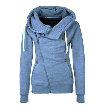 Women Hoodie Zip Parka Trench Outwear Tracksuit Sweatshirt Jumper Pullover Lady Coat Jackets Day-First™