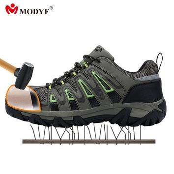 Modyf outdoor shoes for Men steel toe cap safety shoes breaathble climbing footwear an