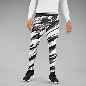 Tryton Ultra Black White Tights for men