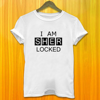 I Am Sherlocked Women Tshirt Sherlock Women Tshirt Text Women Tshirt I Am Sherlocked Women Tshirt