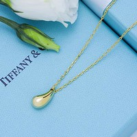 Tiffany & Co. Water drop pendant necklace