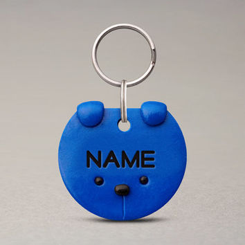 Colored Dog ID Tag - Fun Unique Pet Accessories, Dog Lovers Gifts, Custom Dog Name Tag