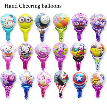 10pc fighting balloon children toys thomas minions hello kitty pikachu America captain elsa foil balloons for party balloons