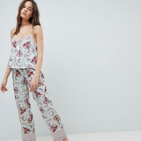 New Look Satin Print Pyjama Set at asos.com