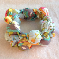 Watercolors nursing necklace, fabric teething necklace, breastfeeding necklace, babywearing, mommy necklace, statement necklace