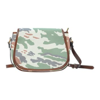 Women Shoulder Bag Camouflage Print Saddle Bag Large