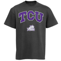 Men's New Agenda Charcoal TCU Horned Frogs Arch Over Logo T-Shirt