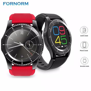 Rechargeable Smart Watch, Support SIM & Anti-lost Pedometer for Android iOS iPhone.