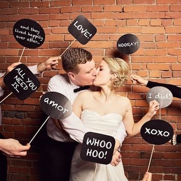 Originality Fun Photo Booth Prop DIY Chalk Board Bubble Speech Chalk Board Wedding Party Photobooth Decorations HG0209