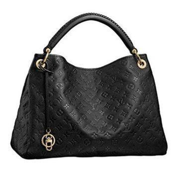 "LV ""Louis Vuitton"" Women Shopping Leather Monogram Canvas Handbag I"