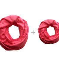 Mommy and Me Matching Infinity Scarf, Coral Pink Toddler Infinity Scarf, Mommy and Me Clothing, Choose your color!