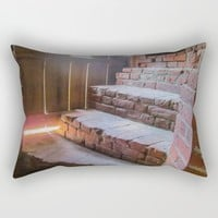 Climb the Steps of Time Rectangular Pillow by Gwendalyn Abrams