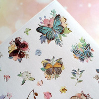 butterfly sticker butterfly theme flower garden butterfly paper sticker colorful butterfly label butterfly decor pretty butterfly collection