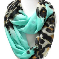 Scarves by Justbella's Leopard Print Infinity Scarf