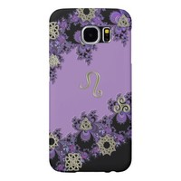 Zodiac Sign Leo Lavender Symbolic Galaxy S6 Case Samsung Galaxy S6 Cases