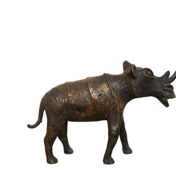 Copper Vintage African Rhino