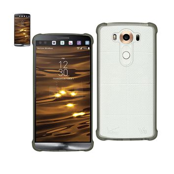 New Mirror Effect Case With Air Cushion Protection In Clear Black For LG V10