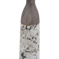 SAGEBROOK HOME | Medium Brown/White Marbled Vase | Nordstrom Rack