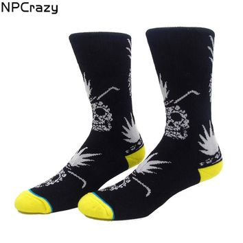 New Pineapple Skull Socks Sport Terry Heated Ski Socks Snowboard