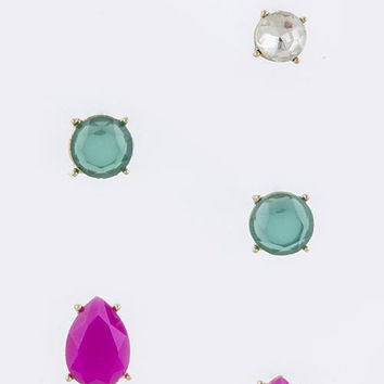 Candy Stud Earring Set