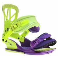 Union Contact Pro Snowboard Bindings Purple/Green 2013 - Mens