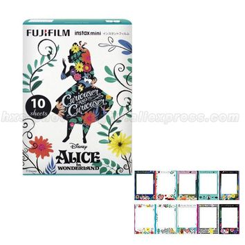 Limited Alice in wonderland Fujifilm Instax Mini 8 Instant Film 10pcs Photo Papers For Mini Camera and Share Smartphone Printer