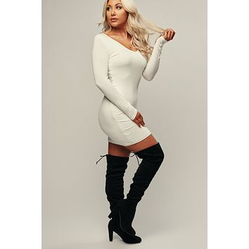Look Back Bodycon (White)
