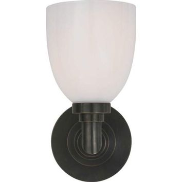 Visual Comfort and Company SL2841BZ-WG Bronze Wilton Single Bath Light