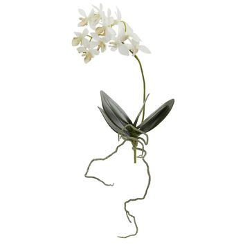 Artificial Flowers -13 Inch Mini Orchid Phalaenopsis Flower-Set of 6