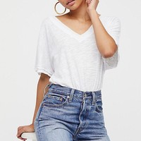 Free People Take Me Tee White