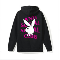 Anti Social Social Club Playboy Remix Hoodie Large L SS18 Authentic Assc