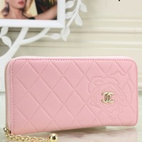 CHANEL 2018 New Women's Fashion Hipster High Quality Clutch F-OM-NBPF Pink