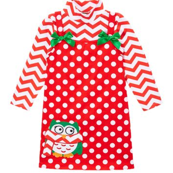 Owl Chevron Christmas Winter Dress