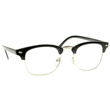 Vintage Inspired Clear Lens Glasses