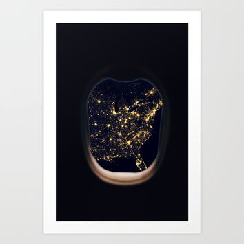 Space trip Art Print by ArtEscape