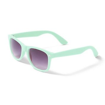 Retro Rubber Sunglasses  | Claire's