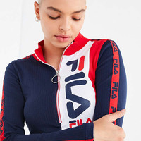 FILA + UO Mock-Neck Zipper Top | Urban Outfitters