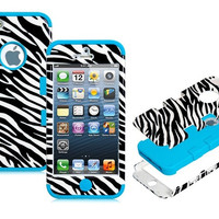 3 Piece Striped Leopard Protective Case Set for iPhone 5