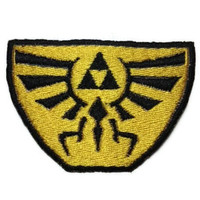 Iron on Hylian Crest embroidered patch Hyrule Zelda Link
