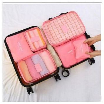 ESBON9X Versatile 6 pcs Set Travel Storage Bag Large Capacity Luggage Suitcase Storage Bags Waterproof Underwear