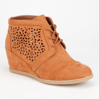 QUPID Race Womens Booties | Heels & Wedges