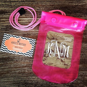 Keep it Dry Pouch - Boating - Pool - Beach - Lake - River - Waterproof - Cell Phone Case - Lanyard - Monogram - Personalized - Gift