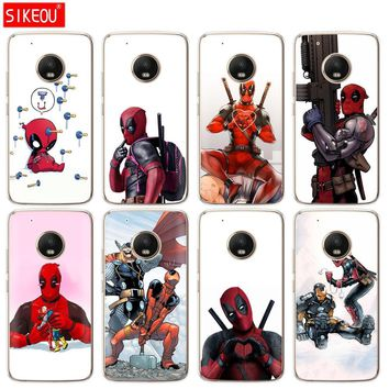 silicone case phone cover For Motorola Moto G6 G5 G5S Z2 Z3 PLAY PLUS X4 E4 E5 C Super Cool Marvel Deadpool