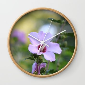 Au Naturale Wall Clock by Theresa Campbell D'August Art