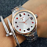 TOUS Sale Vintage Fashion Classic Watch Round Ladies Women Men wristwatch On Sales Love Heart Stars I-Fushida-8899