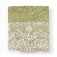 Excell Abigail Stripe Lace Hand Towel