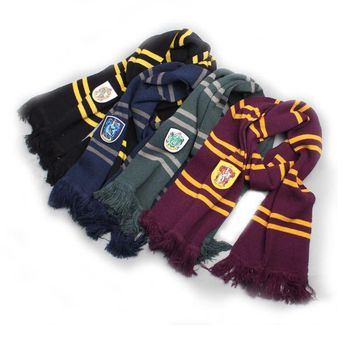 Magic School harri cosplay costume potter scarf Hermione Gryffindor Ravenclaw Slytherin Hufflepuff Scarf for  Boys and Girls