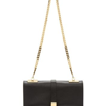Versus Black Leather Gold Chain Anthony Vaccarello Edition Shoulder Bag